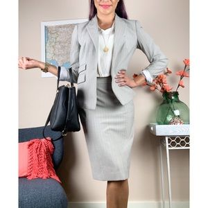 Victoria's Secret Grey Pinstripe Skirt Suit